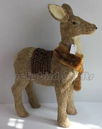 Christmas Deer Head Decorations by 2015 Christmas Deer Head Decoration Natural Straw Deer Head Giant