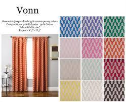 Chevron Design Curtains Vonn Chevron Curtain Drapery Panels