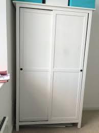 White Bedroom Wardrobes Ikea Wardrobe White Ikea Hemnes 2 Sliding Doors In Bishopston