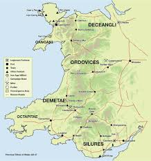 Roman Map Map Of Wales Ad 47