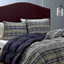 eddie bauer rugged plaid 3 piece down alternative comforter set