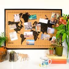 World Map Bulletin Board by Channeldistribution Milimetrado World Map Corkboard Wit Wooden