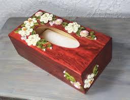 wooden paper tissue box quilled decorative box quilled kleenex