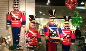 size soldiers and nutcracker decorations