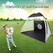 amazon com tomshoo 10 u0027 golf practice hit net hitting cage