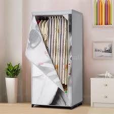 portable fabric clothes closet wardrobe cabinet garment rack with