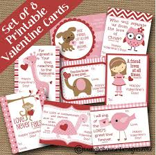 kids valentines day cards 5 printable s day cards on etsy