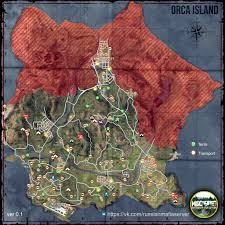 Camping World Locations Map by Miscreated Map Spawn Of Cars Boats Loot And Other Gameplaying