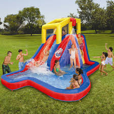 Backyard Inflatables Backyard Water Slides Banzai Splash Blast Inflatable Water Slide