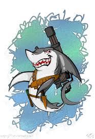 commando great white shark by bugzy111 on deviantart