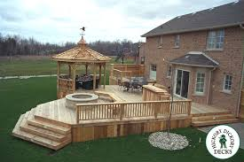 dream deck hottub and fire pit but with real nice outdoor