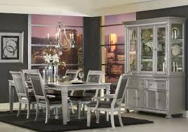 bevelle silver extendable dining room set from homelegance