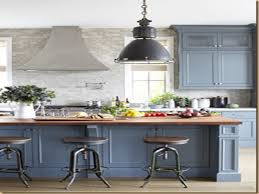 Grey Kitchens Ideas by Gray Blue Cabinets Kitchen Midcentury With Large Windows Wood