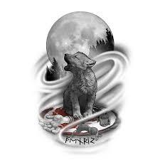 baby wolf design custom design