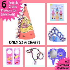6 girls craft kits disney princess simple arts for