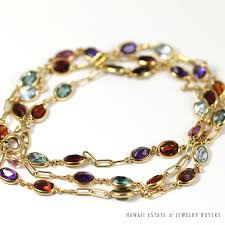 multi colored gold bracelet images Shop hawaii estate jewelry buyers jpg