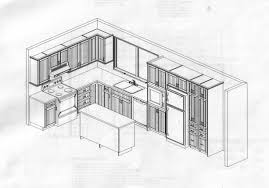 plan cuisine l plan cuisine en l amazing plan de cuisine avec dcrochement with