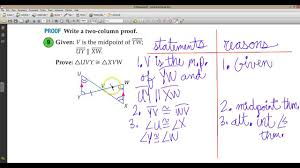 lesson 4 5 proving triangles congruent asa aas youtube