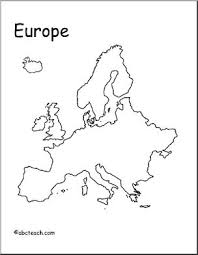 blank map of europe map europe outline abcteach