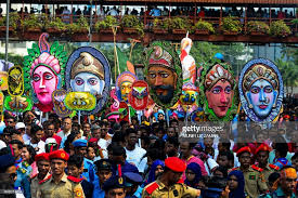 revellers attend a rally in celebration of the bengali new year or