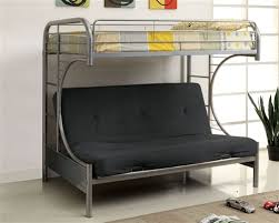 White Metal Futon Bunk Bed Fontana White Metal Futon Bunk Bed