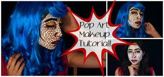 pop art makeup tutorial roy lichtenstein inspired youtube