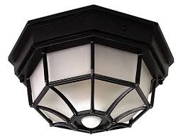 octagon ceiling light fixture heath zenith 360 degree black motion activated octagonal ceiling
