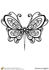 dessin à colorier d u0027un papillon stylisé