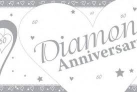 60 wedding anniversary 60th diamond wedding anniversary banner 60 x 20 in the