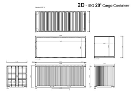 Shipping Container Home Design Kit Download Download 2d And 3d Cad Shipping Container Drawings And Models