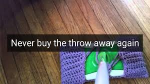 Swiffer Wet Jet For Laminate Wood Floors Crocheted Mop Covers Youtube