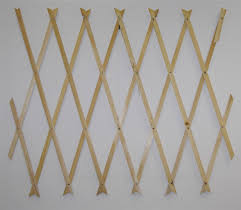 natural wood trellis expanding garden scissor trellis choice of