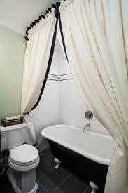 Clawfoot Tub Shower Subway Tile Reclaimed Wood Floors Small - Clawfoot tub bathroom designs