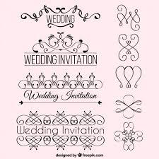 wedding invitation ornaments vector free
