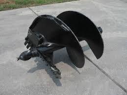 bobcat kubota skid steer attachment round 24 auger post hole bit