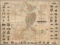 Boston Ferry Map by Fitz Henry Lane Harbor Of Boston With The City In The Distance