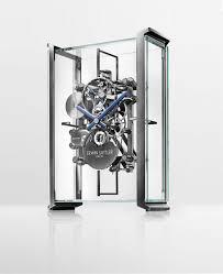 pendule de bureau erwin sattler réalise une superbe horloge de table squelette pour le
