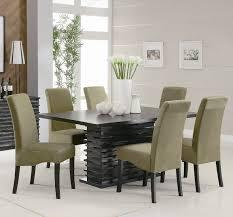 mission style dining room chairs round pedestal table furniture