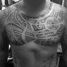 50 polynesian chest tattoo designs for men tribal ideas