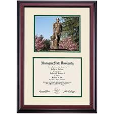 of michigan diploma frame michigan state spartans diploma frame ivory green