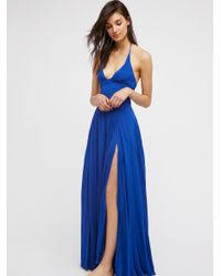 Free People Lille Maxi Dress In Blue Lyst