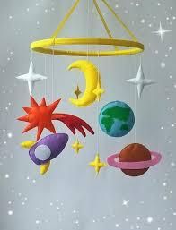 nursery mobile space baby crib mobile boy nursery by zootoys on zibbet
