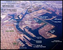Port Of Los Angeles Map by Lunarlight Railroad Photography