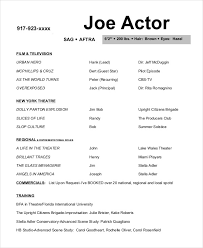 actor resume template acting resume template joe actor resume template jobsxs
