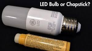 ge led light bulbs ge bright stik review led bulb or chapstick youtube
