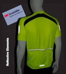 fluorescent cycling jacket men u0027s elite coolmax cycling jersey w 3m reflectives extra long