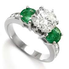 and emerald engagement rings anzor jewelry 14k white gold emerald engagement ring br