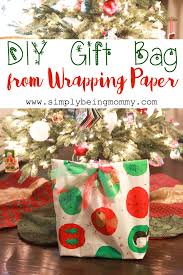 diy gift bag from wrapping paper simply being mommy