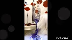 Godmother Wine Glass Wedding Glasses Hand Painted Bride Groom And Godmother