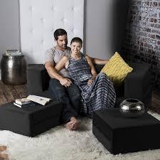 Loveseat With Ottoman with Amazon Com Jaxx Zipline Convertible Sleeper Loveseat U0026 Ottomans